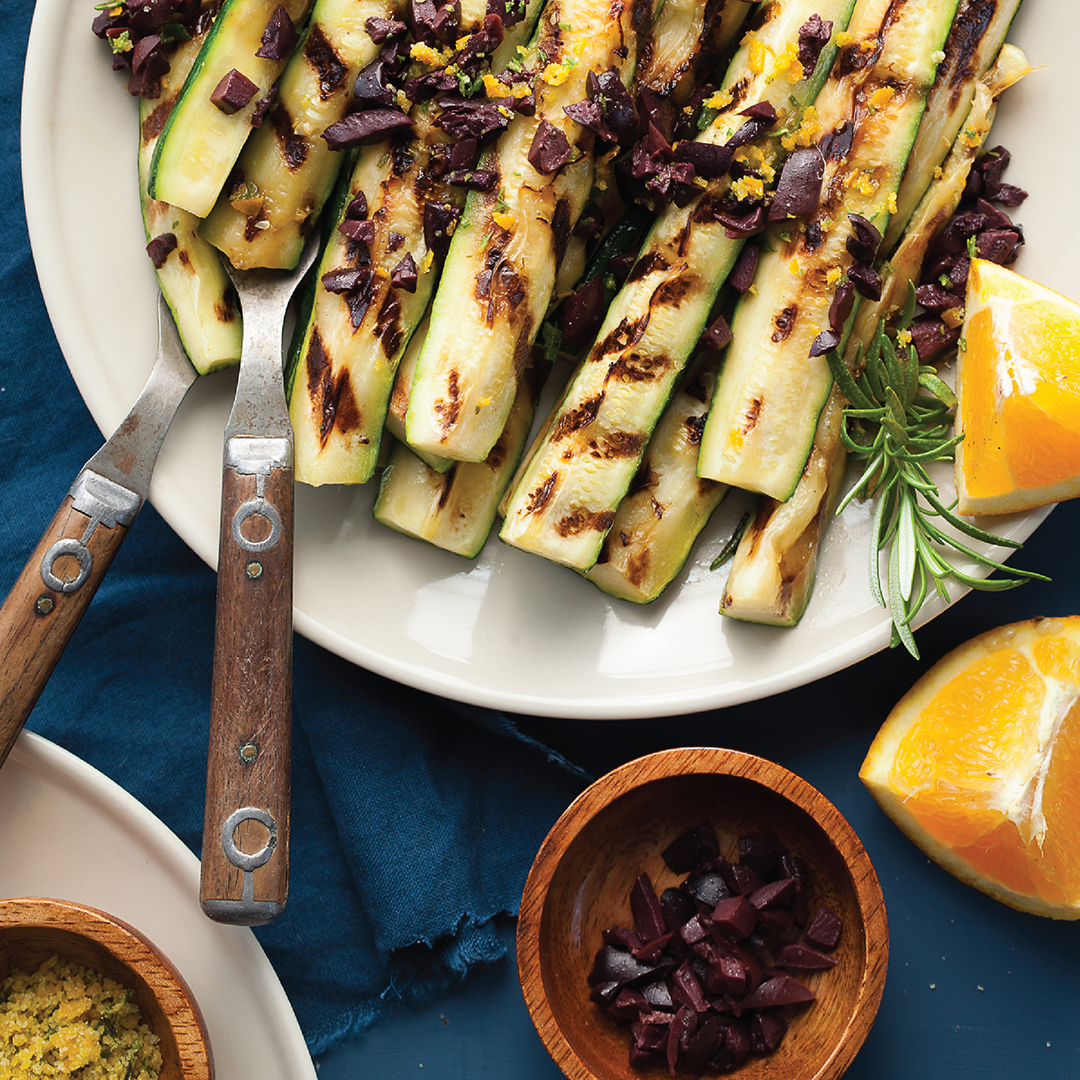 Grilled Zucchini with Rosemary Orange Salt Recipe